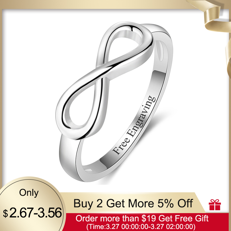 Personalized Infinity Ring 925 Sterling Silver Custom Name Wedding Gift Love Forever Ring For Women Fine Jewelry(Lam Hub Fong)