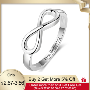 Personalized Infinity Ring 925