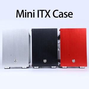 MUCAI-MINI caja de aluminio HTPC X1 ITX, para Gaming, PC de escritorio, chasis vacío, compatible con instalación de i7 8700 rtx2070