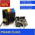 CISS tinta completa para pg 440 cl 441 compatible con canon PG-440 CL-441 PIXMA recargable MG3540/MG3140/MG2140/MG4140/MG4240/MG2240