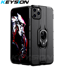 KEYSION Shockproof Armor Case for IPhone 11 Pro Max 2019 Stand Car Ring Phone Cover New