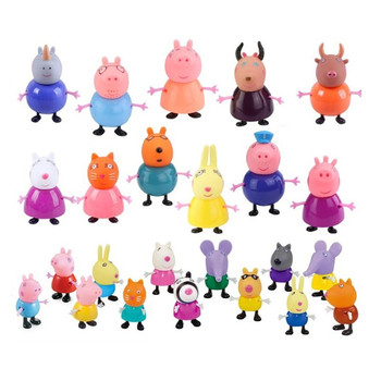 25pcs/set Peppa pig George friend Family Pack Dad Mom Action Figure Original Pelucia Anime Toys Boy girl gifts