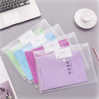 Plastikowe koperty najwyższej jakości przezroczyste teczki na dokumenty przezroczyste teczki na koperty projektowe z zapięciem na zatrzask nowość tanie i dobre opinie