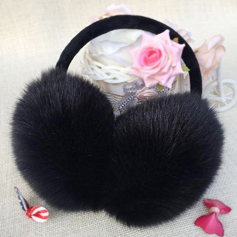 2019 New Winter Earmuffs Warmth Plush Warm Ears Ear Muff  Men's And Women's Outdoor Ear Bag Imitation Rabbit Hair Cute Ear Muffs