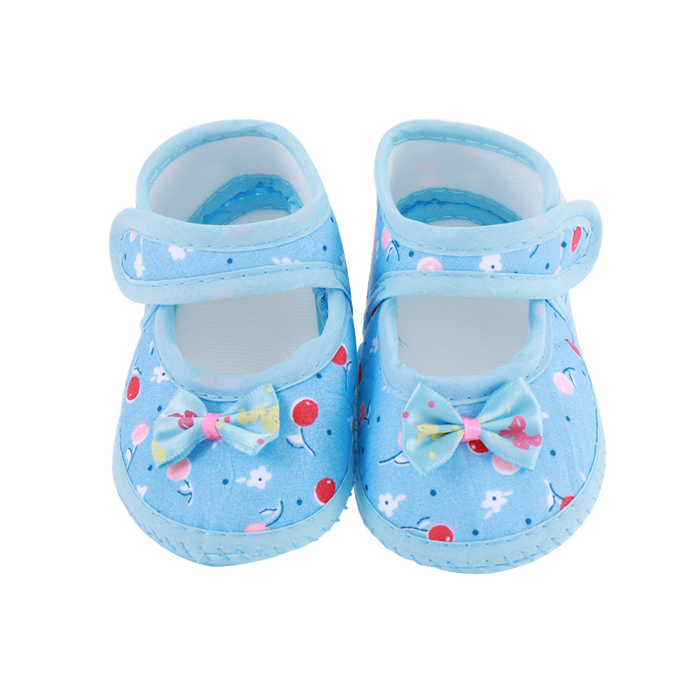Big Bow Toddler Shoes For Newborn Floral Casual Baby Soft Sole First Walker Anti-Slip Baby Girls Flats Shoes Prewalker