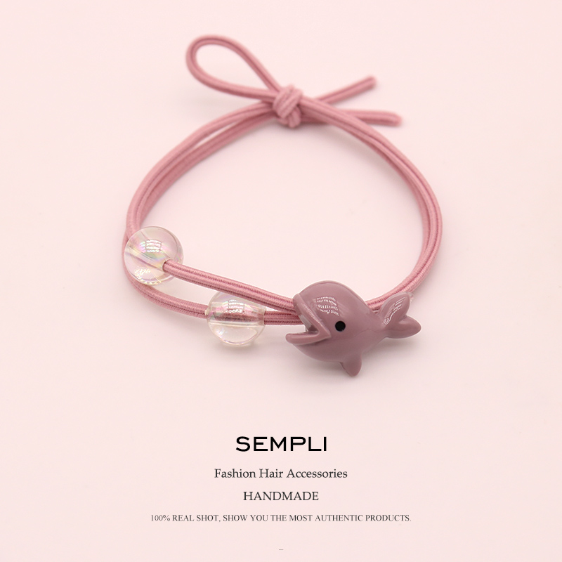 empli Nylon Elastic Hair Bands Little Whale For Women Girls Band Dolphin Kid Children Rubber Accessories Headwear