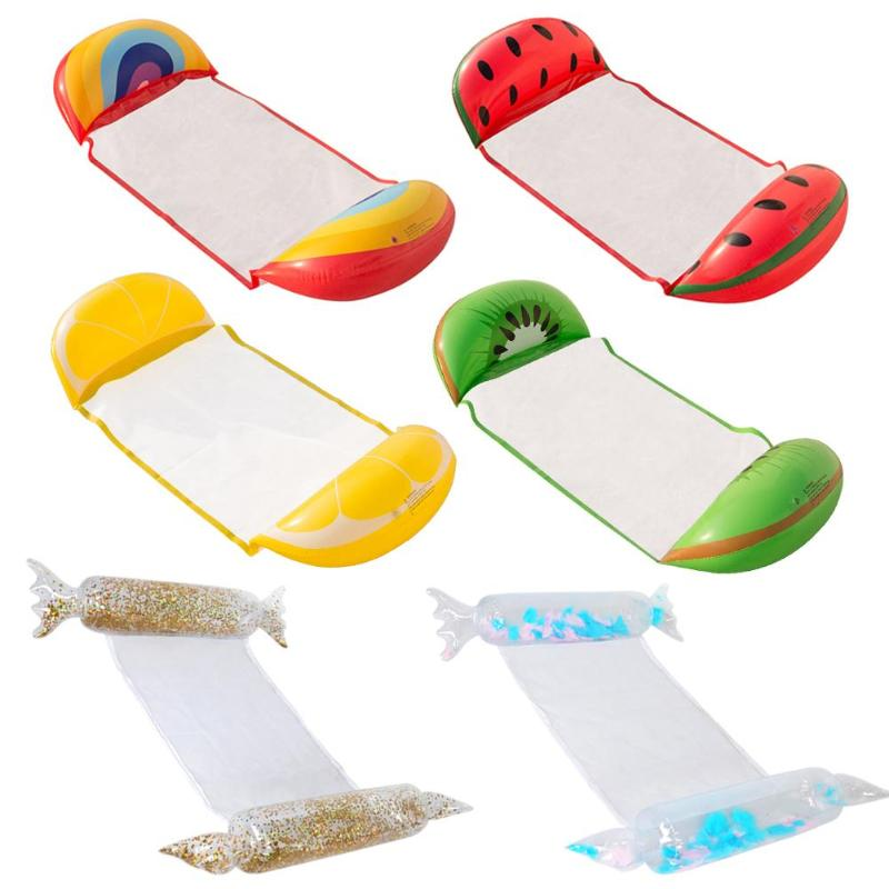 1PC Inflatable Pool Float Bed Water Sport Recreation Floating Row Foldable Floating Bed Recliner Seat Water Relaxation Swimming
