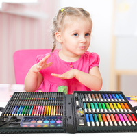 150pcs Kids Art Set Children Drawing Set Water Color Pen Crayon Oil Pastel Painting Drawing Tool Art supplies Stationery Toys