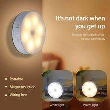 LED Mini Night Light Motion Sensor Wireless Body Induction Lamp Bedroom Washroom