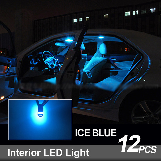 12pcs White LED Interior Light Canbus License Plate Bulbs Kit Fit For 2004-2006 2007 2008 Chrysler Pacifica Map Dome Cargo Lamp 6
