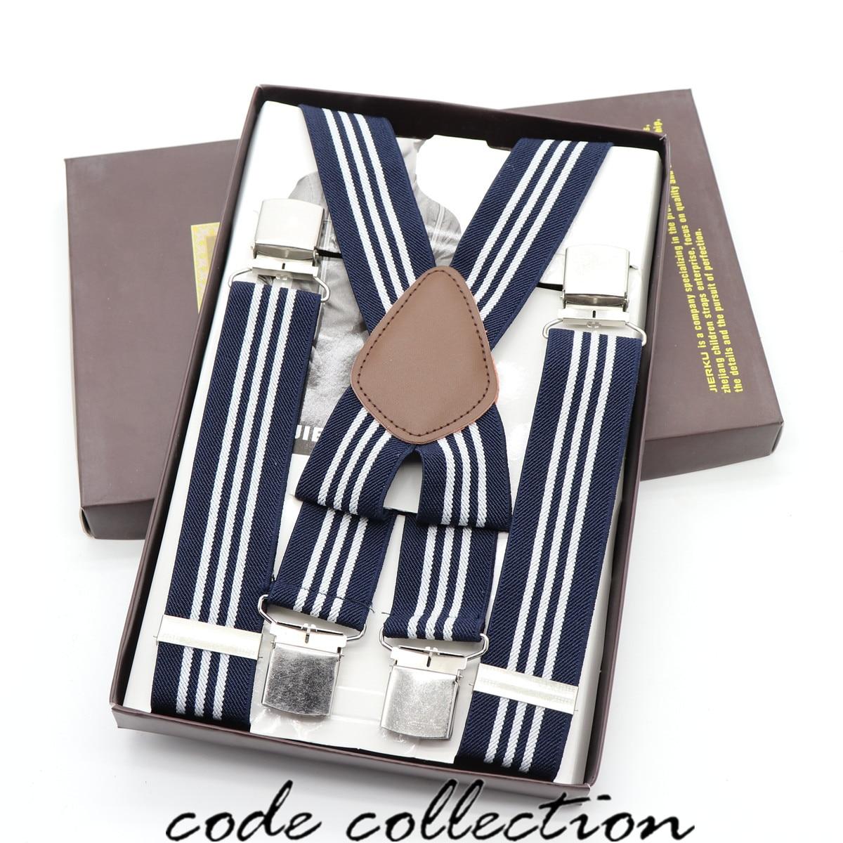 Vintage Men Suspender Belt Suit Trousers Shirt Stay Clssic 4 Clips Adult Suspenders Gentlemen Braces Elegant Clothes Accessories