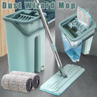 Cleaning Microfiber Mops with Bucket Hand Free Wringing Floor Clean Tool Kit 2019ing