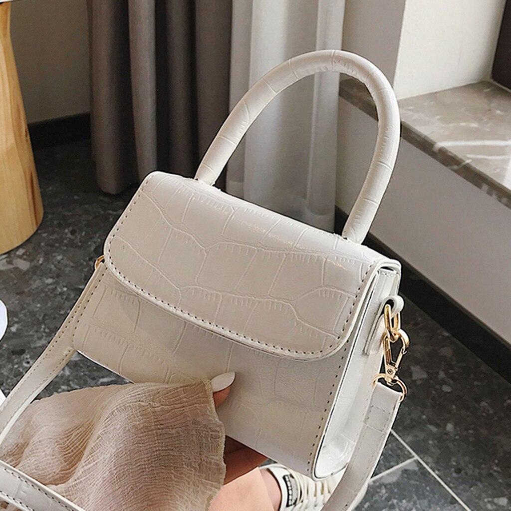 Женская винтажная кожаная сумка мессенджер в стиле ретро, однотонная Повседневная сумка через плечо, Mujer Bolsas Femininas #25|Сумки с ручками|   | АлиЭкспресс