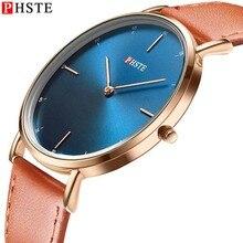 цена на PHSTE Men Quartz Watch Ultra Thin Simple Japan Movt 3ATM Waterproof Slim Clock Calfskin Leather Band Luxury Man Wrist Watch Male