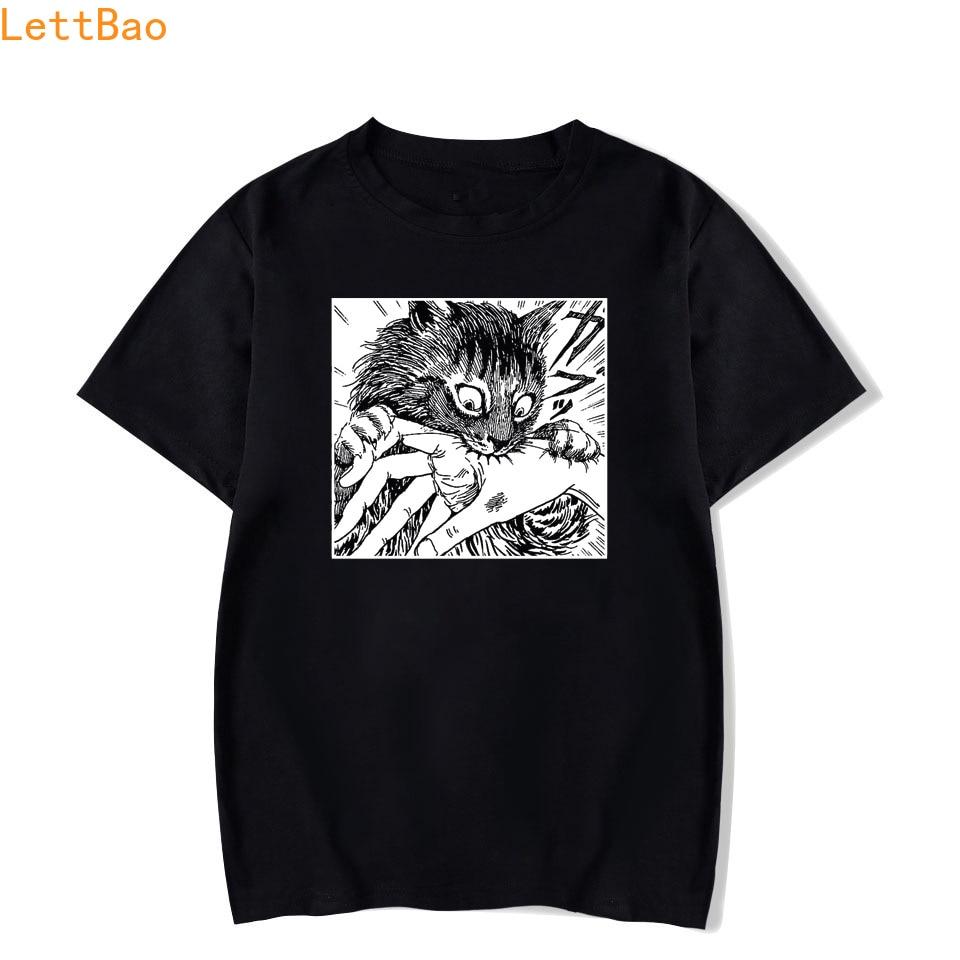 Tomie Junji Ito T-Shirt Men Unisex Anime Cartoon Design Men Tee Shirt Homme Summer Tops Short Sleeve Cotton Vogue Vintage Style(China)