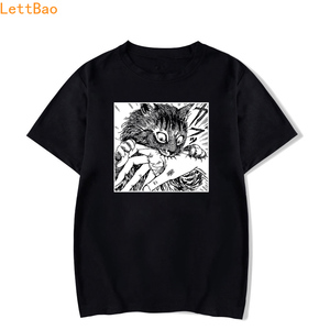 Tomie Junji Ito T-Shirt Men Unisex Anime Cartoon Design Men Tee Shirt Homme Summer Tops Short Sleeve Cotton Vogue Vintage Style