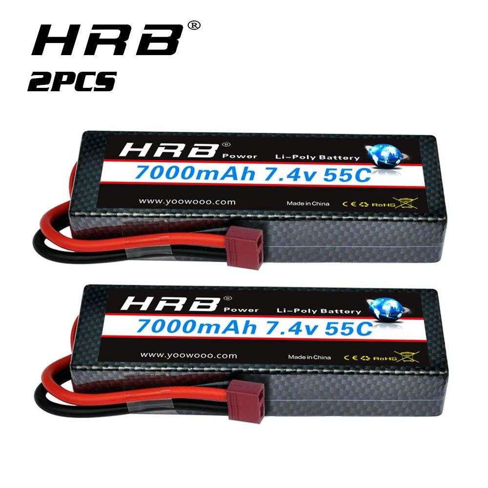 Литий-полимерный аккумулятор HRB 2S, 7,4 В, 7000 мАч, 2 упаковки