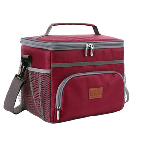 Image 2 - وصفت 15L الأزرق الأحمر معزول الحرارية برودة حقيبة حفظ الطعام للخارجية نزهة سيارة باستخدام بولسا termica loncheras الفقرة mujer