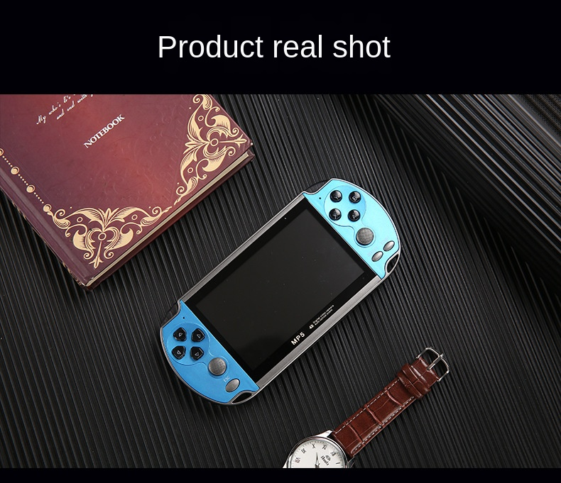 Handheld Game Console Nostalgic 4.3 Inch HD Large Screen 8G Double-rocker X7 Classic Game Retro Mini Handheld MP5 Video Game