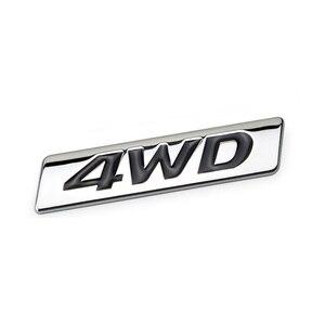 Стайлинг автомобиля, 3D хромированный металлический стикер, 4WD эмблема, наклейка для внедорожника, заднего багажника, внедорожника, Toyota гор...