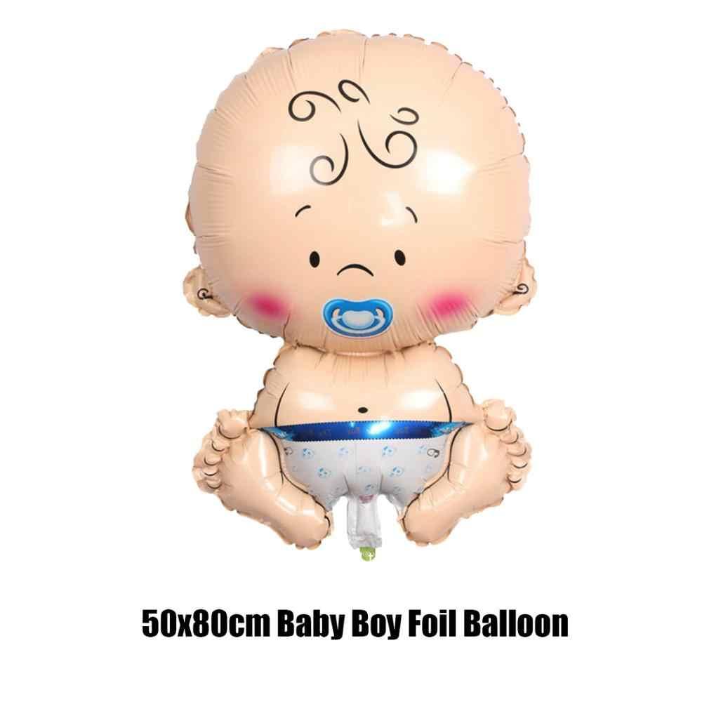1 zestaw Baby Shower Boy Girl balon dekoracja urodzinowa butelka dla dziecka stopa płeć odsłonić chrzest zaopatrzenie firm 53D