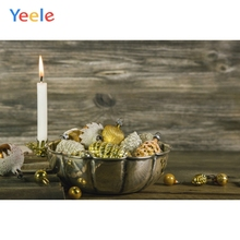 Yeele Christmas Photocall Fade Wood Candle Balls Photography Backdrops Personalized Photographic Backgrounds For Photo Studio