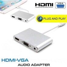 عالية الجودة HDTV وتغ كابل ل البرق إلى HDMI VGA AV الصوت فيديو محول 8 دبوس آيفون X Xs ماكس XR لباد الهواء Mini iPod