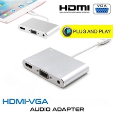 Высококачественный HDTV OTG кабель для Lightning HDMI VGA AV аудио Vidio адаптер 8 pin для iPhone X Xs Max XR для iPad Air Mini iPod