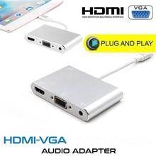 גבוהה באיכות HDTV OTG כבל לייטנינג ל usb HDMI VGA AV אודיו Vidio מתאם 8 פינים עבור iPhone X Xs max XR עבור iPad אוויר מיני iPod