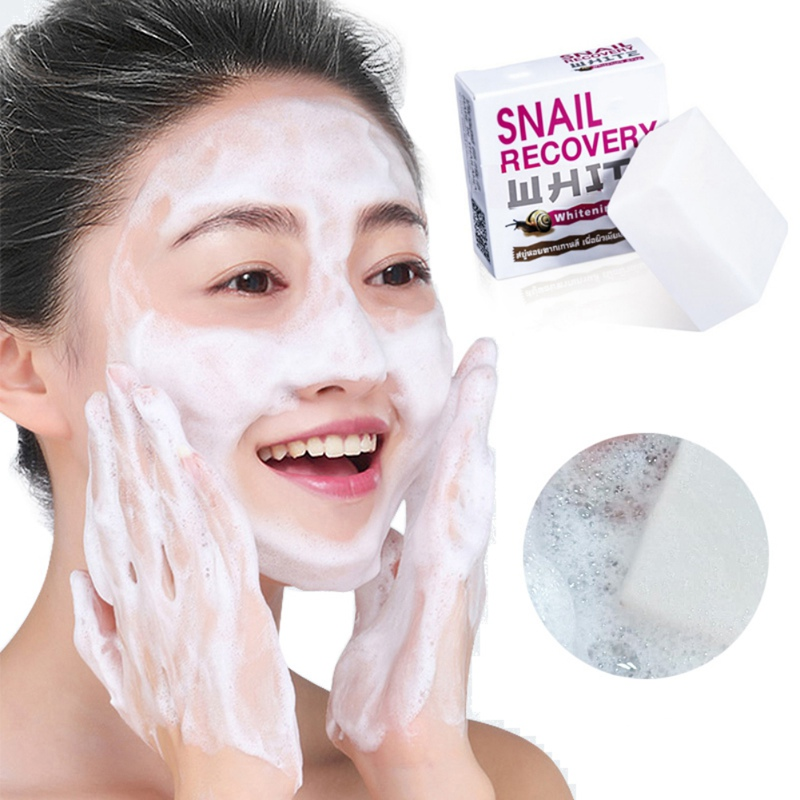 Snail Soap, Oil Control, Moisturizing, Anti-allergic, Strengthen Skin, Clean Stains And Protect Skin, Whitening And Moisturizing