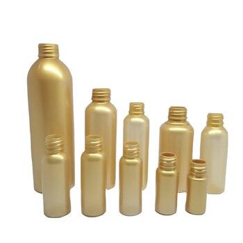 5ml 10ml 15ml 20ml 25ml 30ml 50ml 60ml 100ml 150ml 200ml 250ml Gold PET Plastic Empty Cosmetic Bottle w/ Sprayer pump