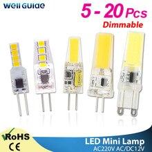 led g9 lamp g4 led bulb 12V 220V Dimmable bulb 2835 SMD 3W 6W 9w g4 g9 led COB LED Lighting replace Halogen Spotlight Chandelier