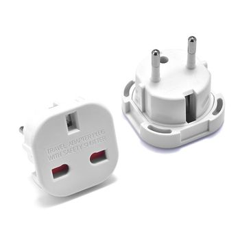 1pc UK to EU Plug Adapter 220V Euro Travel Converter AC Wall Charger Power British Electrical Outlets
