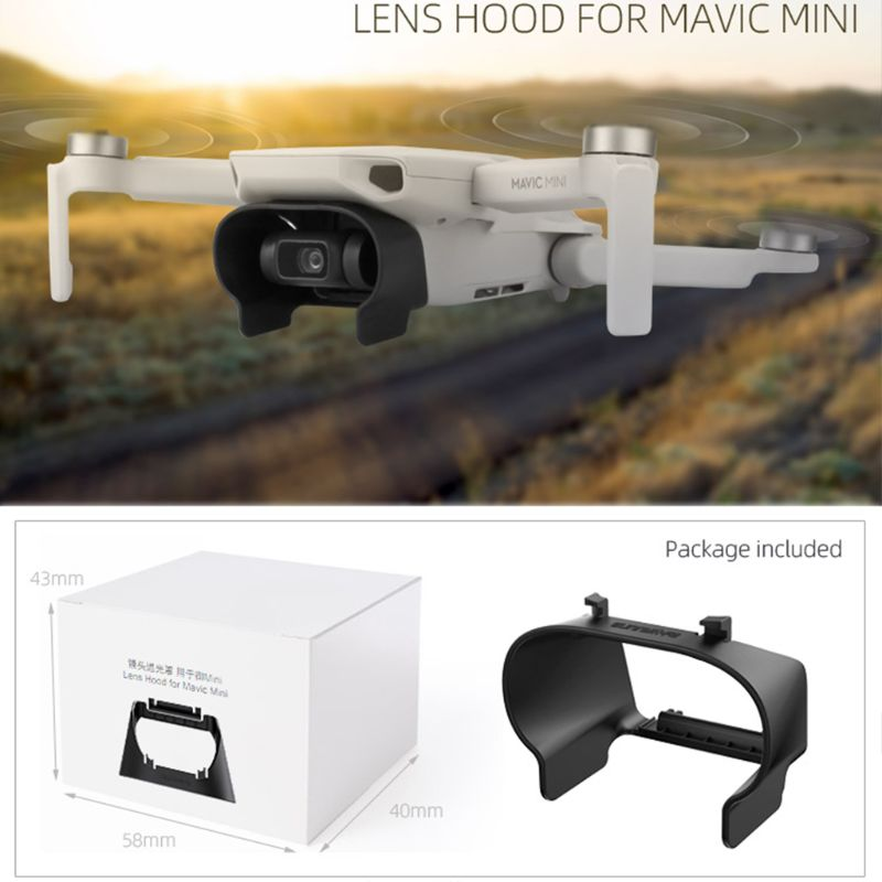 Anti-glare Camera Lens Hood Gimbal Lens Cover Sunshade Protective Shell For DJI Mavic Mini RC Drone Accessories