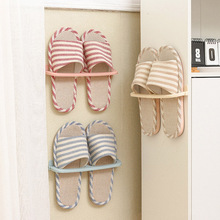 Simple Space-saving Slippers Rack Folding Wall-Mounted Shoes Shelves Plastic Hanging Rack TUE88