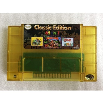 Super 65 In 1 SNES-multi 16 Bit Video Game USA Version Game Cartridge 30 Games Can Battery Save For SNES Game Console