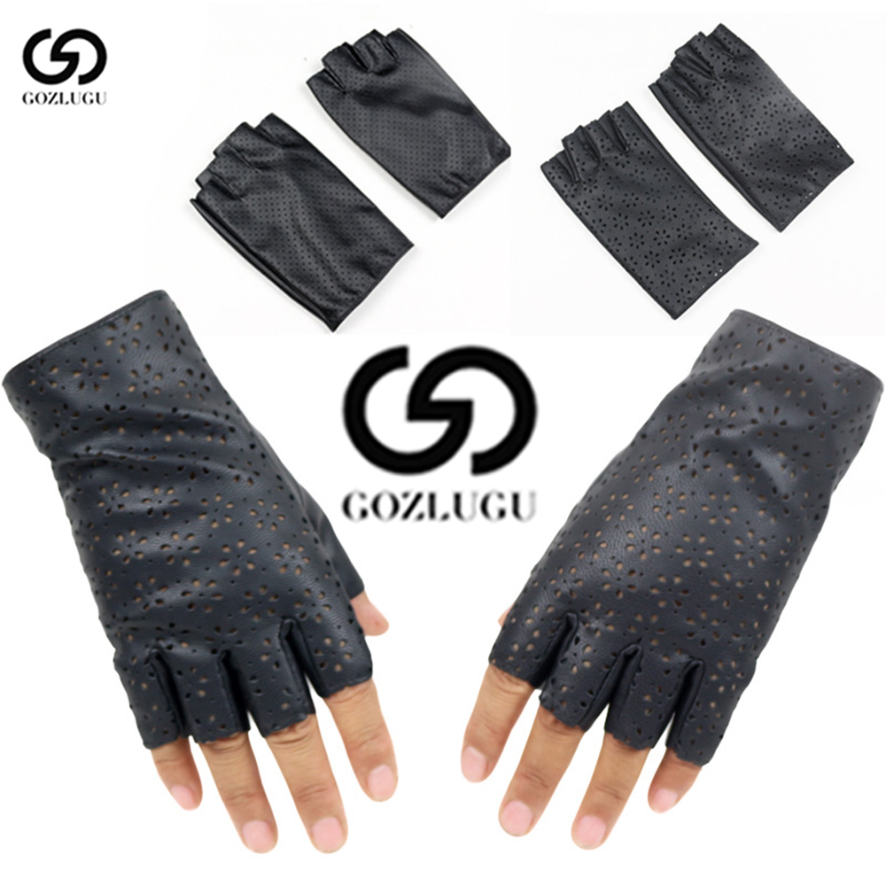 Fashion Women Fingerless Gloves Breathable Soft Leather Gloves