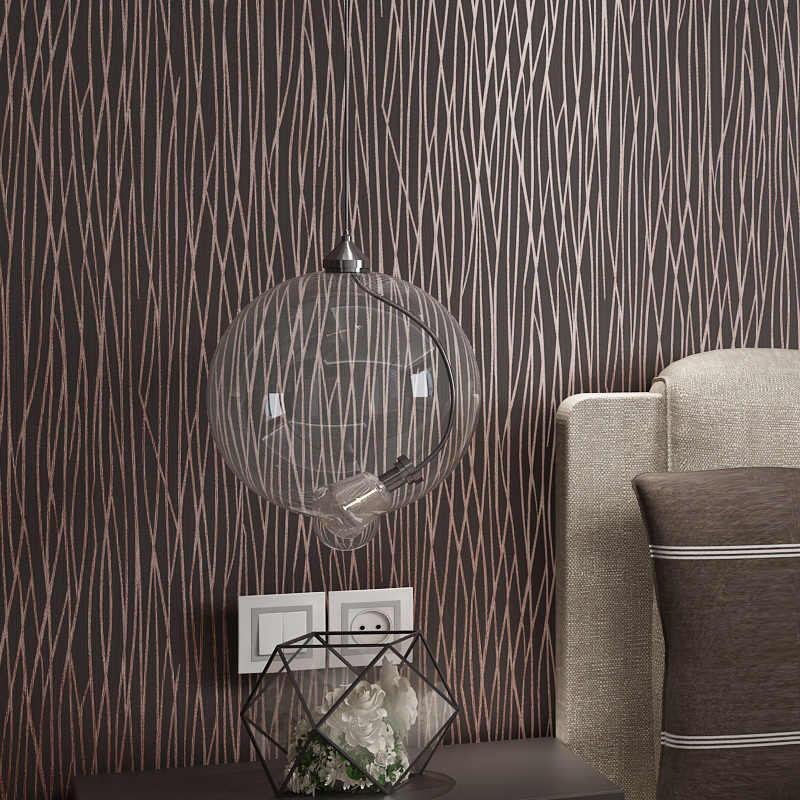 Grijs Peint Modern Dark Papier Stripped Muur Papers Home Decor Streep Behang Roll Voor Woonkamer Slaapkamer Muren Papel Muurschildering