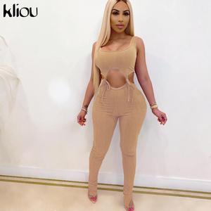 Kliou 2020 neue verband zwei stück set frauen fitness ärmel crop top leggings elastische hight beiläufige dünne streetwear outfit