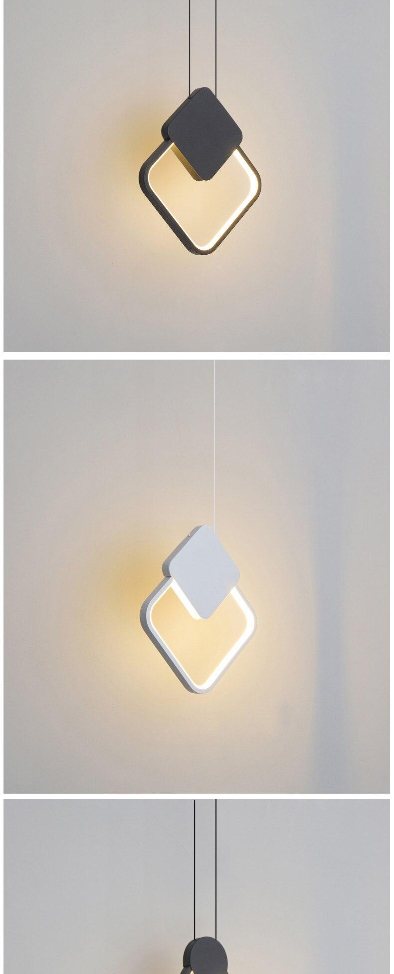 Moderno led pingente luzes para o quarto
