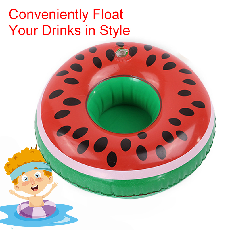 Duck Pool Cup Holder Snack Rack Inflatable Floating Drink Cup Holder For Pool Beach Party Pool Bar Cup Holder Pool Drink Holder
