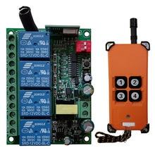 3000 м AC220V 4CH канал 4 CH Радио Управление; RF Беспроводной дистанционного Управление мостовой кран Системы приемник + передатчик