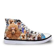 Haoyun poodle rottweiler/Женская Вулканизированная обувь с принтом;