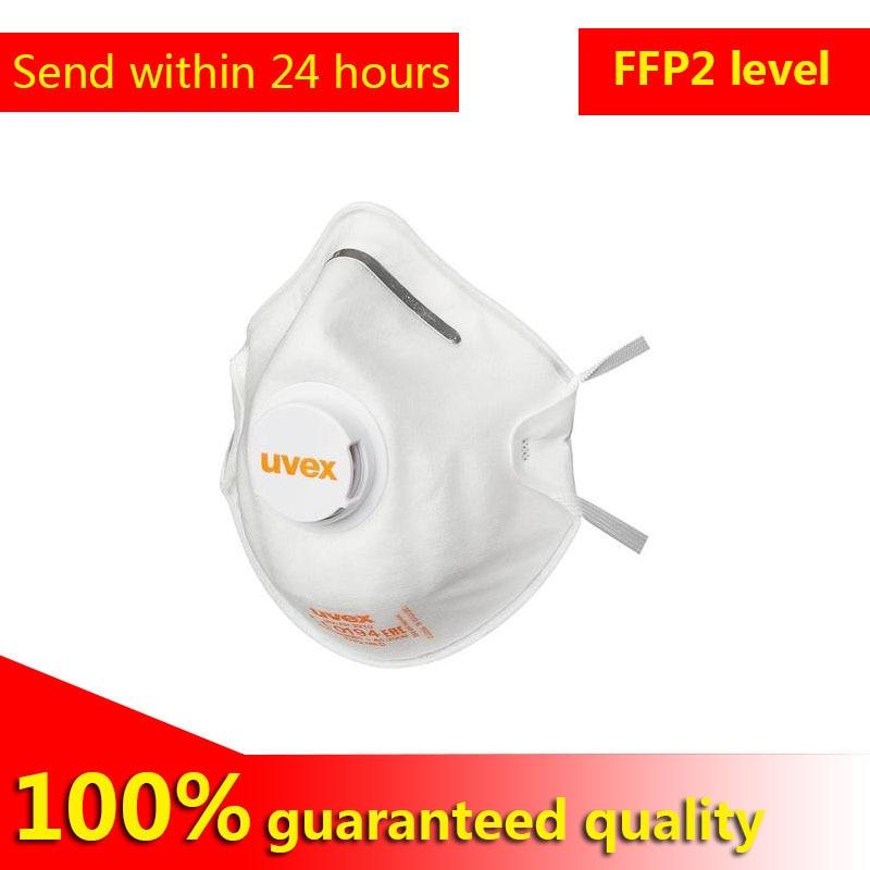 Germany UVEX 2210 Imported Dust Mask FFP2 High Efficiency Protective Mask Independently Installed Breathing Valve FFP2 Grade