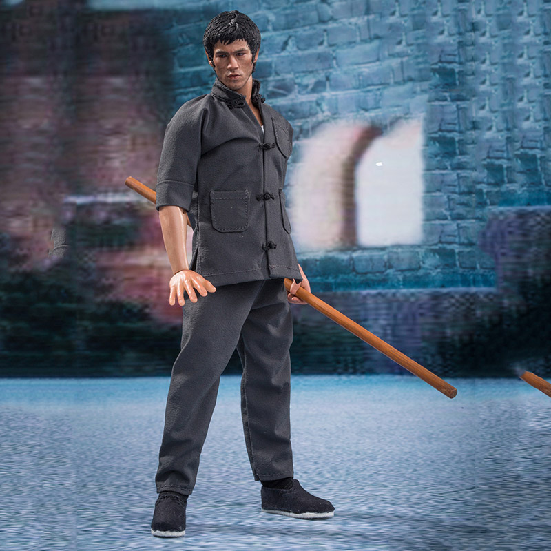 DR-009 1/9 Scale Male Boy Movie star Bruce Lee Martial arts master Full Set Action Figure Model Clothing Boy Doll Collection Toy image