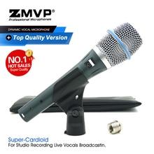 Grade A Qualität BETA87A Professionelle Kondensator Wired Mikrofon Super Nieren BETA87 Handheld Mic Für Live Gesang Karaoke Studio