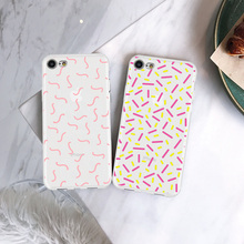 Phone Case Coque For iPhone xr 7 8 6 6S Plus x XS MAX 5 5S Cartoon Geometric Pattern Soft TPU Phone Cover For iPhone 8 7 Plus цена 2017