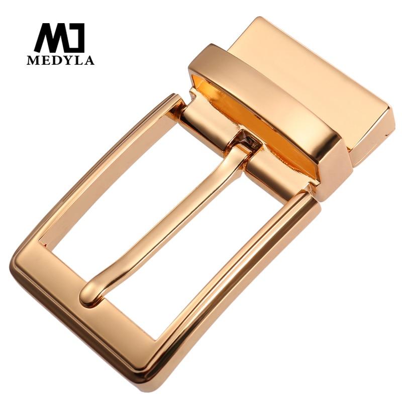 MEDYLA 360° Rotating High Quality Belt Buckle Hard Metal Simple Big Buckle For Men Business Belt Inner Diameter 3.48cm Belt Men