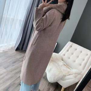 Image 5 - OFTBUY 2020 kış ceket kadınlar gerçek kürk ceket doğal Fox kürk yaka kaşmir yün karışımları uzun giyim kemer bayanlar Streetwear