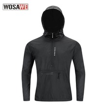 Men #8217 s Windbreakers Hooded Ultra-Light Windproof Waterproof Cycling Jacket Long Sleeve Road Mountain Bike Jacket MTB Clothing cheap WOSAWE Polyester CN(Origin) Anti-Pilling Anti-Shrink Breathable Quick Dry Pockets Fits true to size take your normal size